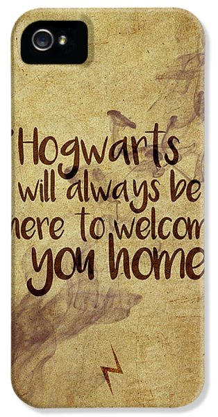 Wizard iPhone 5 Case - Hogwarts Is Home by Samuel Whitton