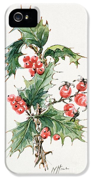 Holly And Rosehips IPhone 5 Case by Nell Hill