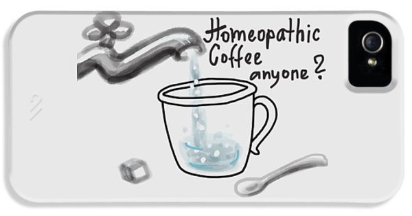 iPhone 5 Case - Homeopathic Coffee by Ivana Westin