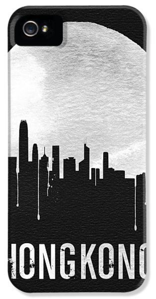 Hong Kong Skyline Black IPhone 5 Case by Naxart Studio