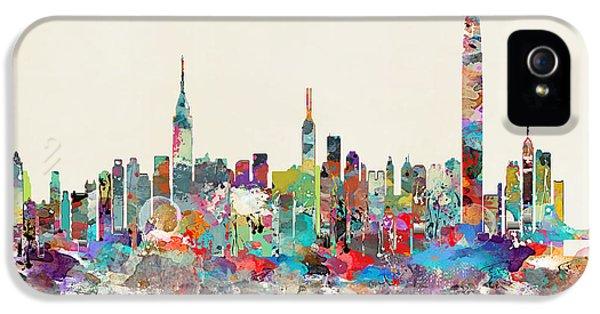 Hong Kong iPhone 5 Case - Hong Kong Skyline by Bleu Bri