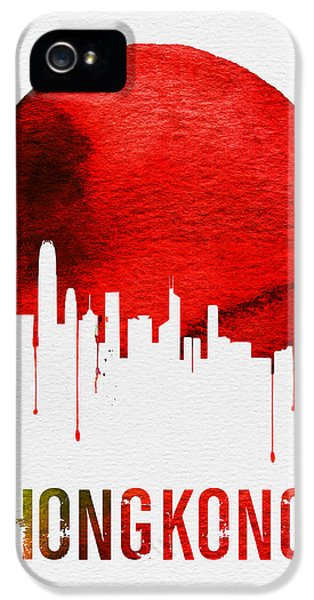 Hong Kong Skyline Red IPhone 5 Case by Naxart Studio