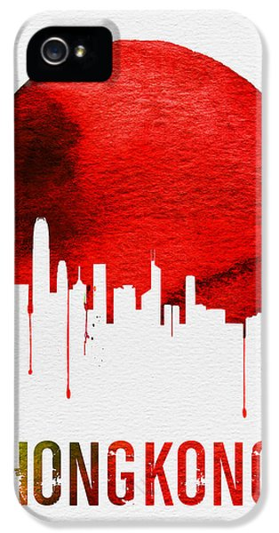 Hong Kong Skyline Red IPhone 5 Case by Naxart Studio