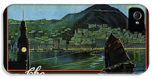Hong Kong - The Riviera Of The Orient - Vintage Travel Poster IPhone 5 Case