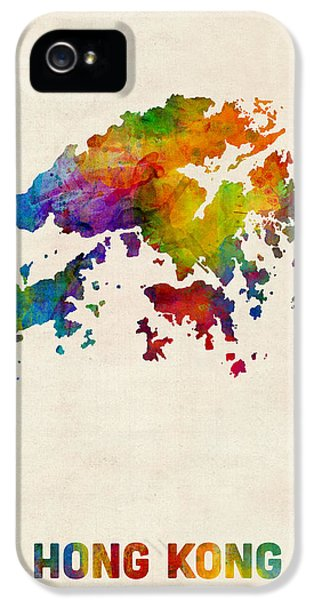 Hong Kong Watercolor Map IPhone 5 Case
