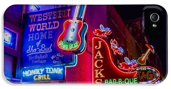 Honky Tonk Broadway IPhone 5 Case by Stephen Stookey