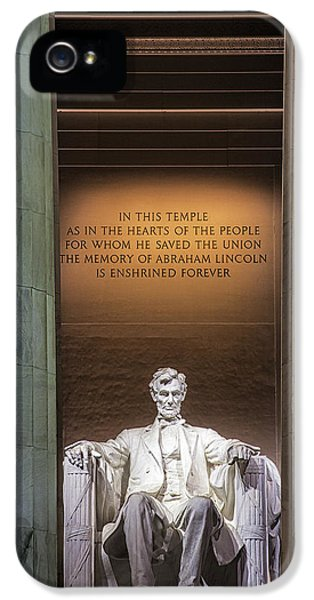 Honored For All Time IPhone 5 Case by Andrew Soundarajan