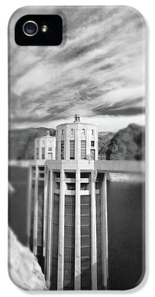 Hoover Dam Intake Towers No. 1-1 IPhone 5 Case by Sandy Taylor