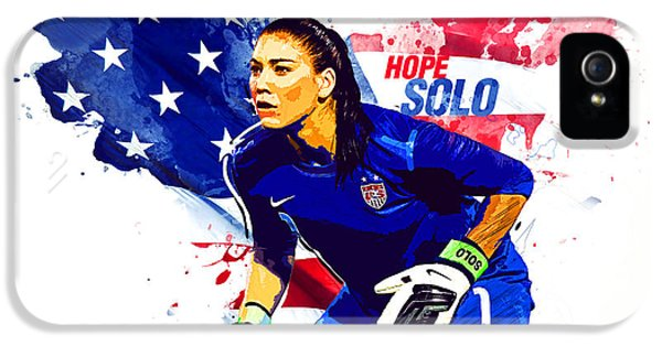 Hope Solo IPhone 5 Case by Semih Yurdabak