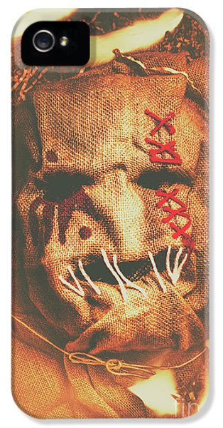 Horror Scarecrow Portrait IPhone 5 Case by Jorgo Photography - Wall Art Gallery