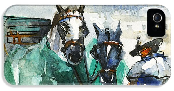 Horses IPhone 5 Case by Kristina Vardazaryan