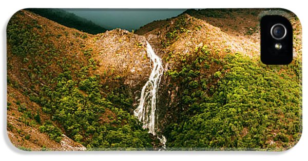 Horsetail Falls In Queenstown Tasmania IPhone 5 Case by Jorgo Photography - Wall Art Gallery