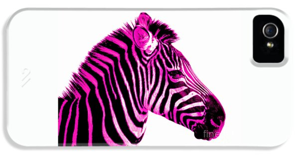 Hot Pink Zebra IPhone 5 Case by Rebecca Margraf