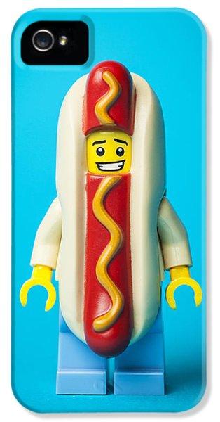 Hotdog Dude IPhone 5 Case by Samuel Whitton