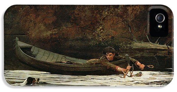 Hound And Hunter IPhone 5 Case by Winslow Homer