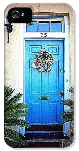 House Door 6 In Charleston Sc  IPhone 5 Case by Susanne Van Hulst