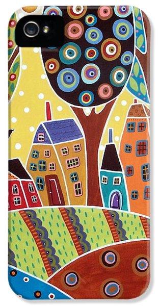 Blackbird iPhone 5 Case - Houses Barn Landscape by Karla Gerard