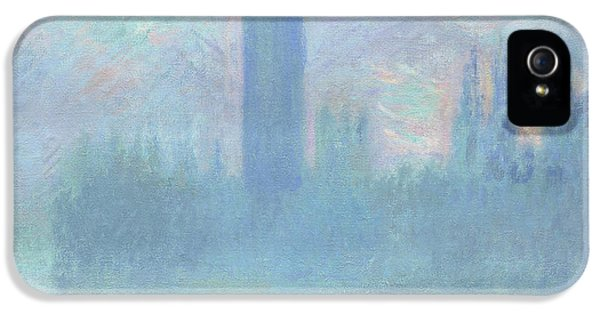 Houses Of Parliament  London IPhone 5 Case by Claude Monet
