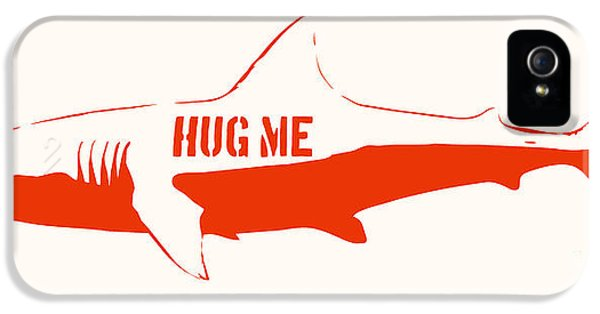 Monster iPhone 5 Cases - Hug Me Shark iPhone 5 Case by Pixel Chimp