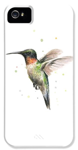 Hummingbird IPhone 5 Case by Olga Shvartsur
