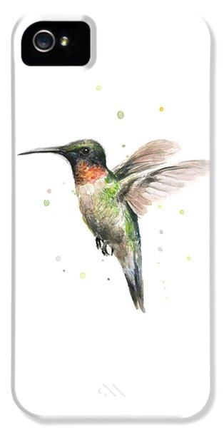 Animal iPhone 5 Case - Hummingbird by Olga Shvartsur