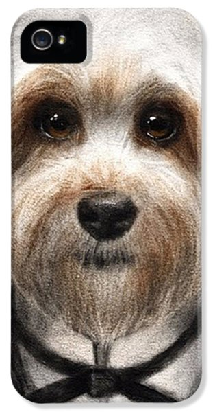Humorous Dressed Dog Painting By IPhone 5 Case