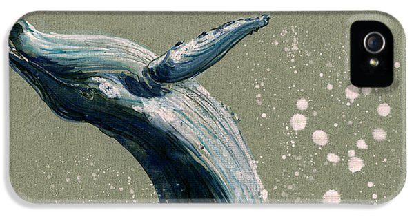 Humpback Whale Swimming IPhone 5 Case by Juan  Bosco
