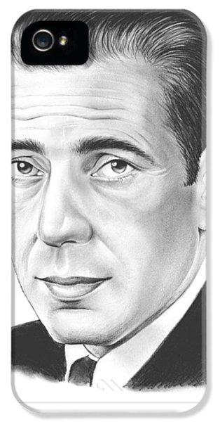 Humphrey Bogart IPhone 5 Case by Greg Joens
