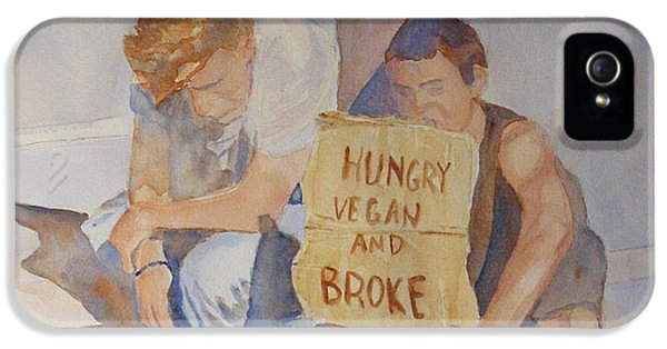 Hungry Vegan And Broke IPhone 5 Case by Jenny Armitage
