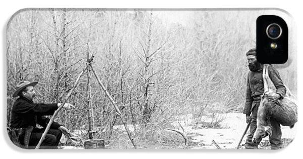 Hunting Camp Winter 1887-88 -- South Dakota IPhone 5 Case by Daniel Hagerman