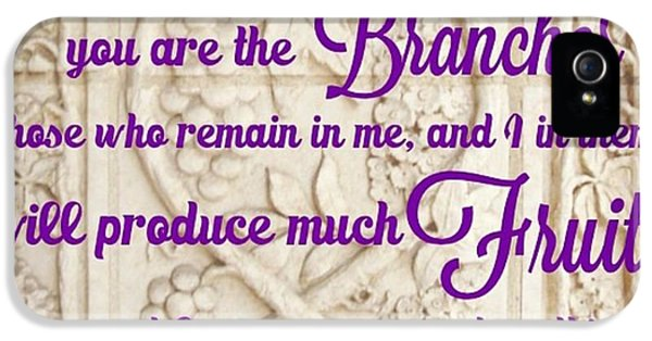 """Design iPhone 5 Case - """"i Am The True Grapevine, And My by LIFT Women's Ministry designs --by Julie Hurttgam"""