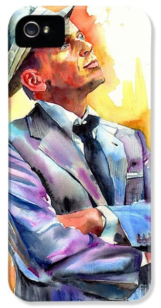 Frank Sinatra iPhone 5 Case - I Did It My Way by Suzann's Art