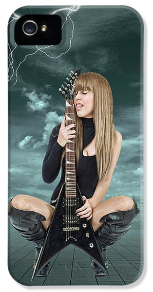Rock And Roll iPhone 5 Case - I Love Rock And Roll by Smart Aviation