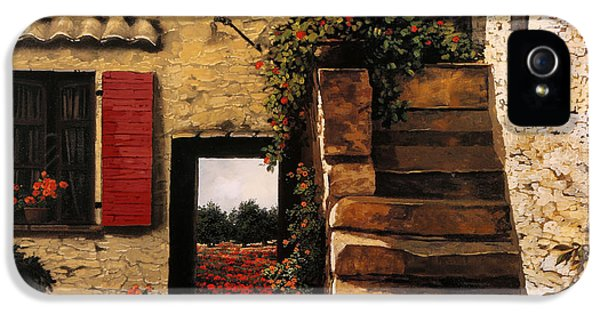 I Papaveri Attraverso La Porta IPhone 5 Case by Guido Borelli