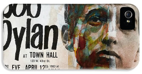 Bob Dylan iPhone 5 Case - I Want You - Retro Poster  by Paul Lovering