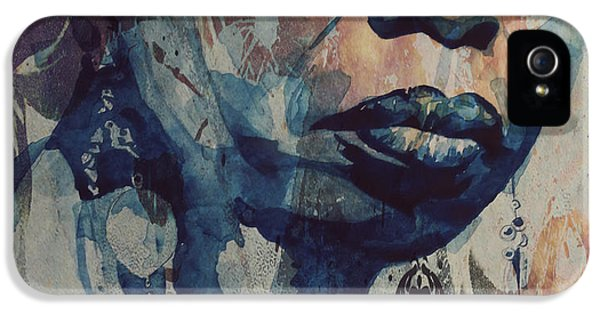 Rhythm And Blues iPhone 5 Case - I Wish I Knew How It Would Be  Feel To Be Free by Paul Lovering