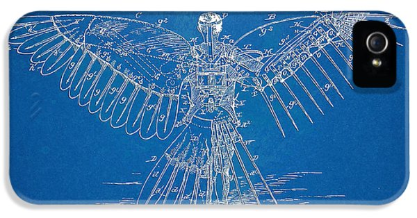 Steam-punk iPhone 5 Cases - Icarus Human Flight Patent Artwork iPhone 5 Case by Nikki Marie Smith
