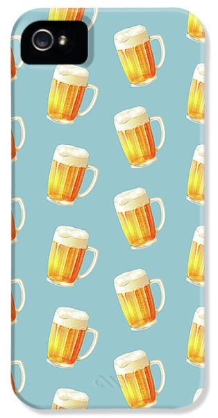 Ice Cold Beer Pattern IPhone 5 / 5s Case by Little Bunny Sunshine