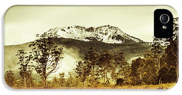 Ice Covered Mountain Panorama In Tasmania IPhone 5 Case by Jorgo Photography - Wall Art Gallery