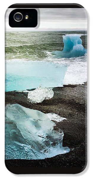 Cool iPhone 5 Case - Iceberg Pieces Jokulsarlon Iceland by Matthias Hauser
