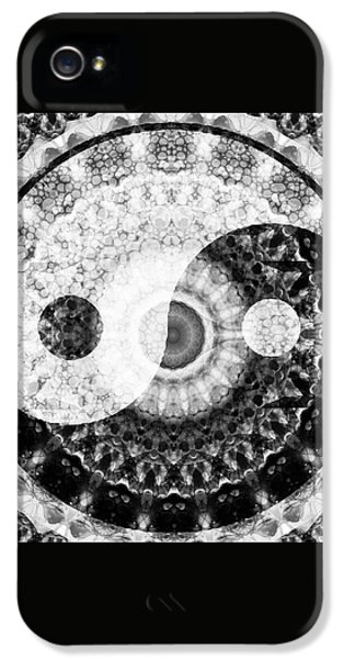 Ideal Balance Black And White Yin And Yang By Sharon Cummings IPhone 5 Case by Sharon Cummings