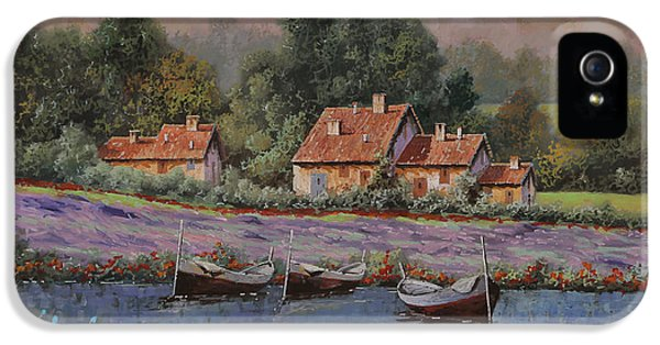Il Borgo Tra Le Lavande IPhone 5 Case by Guido Borelli