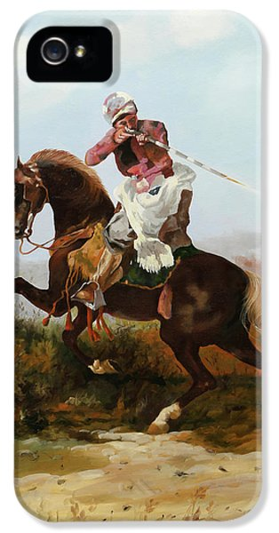 Knight iPhone 5 Case - Il Fucilatore Di Sassi by Guido Borelli