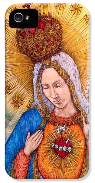 Immaculate Heart Of Virgin Mary IPhone 5 Case by Kent Chua