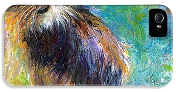 Impressionistic Tuxedo Cat Painting By IPhone 5 Case