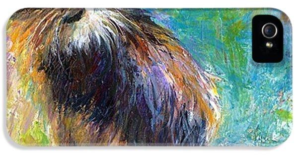 iPhone 5 Case - Impressionistic Tuxedo Cat Painting By by Svetlana Novikova