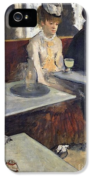 In A Cafe IPhone 5 Case by Edgar Degas
