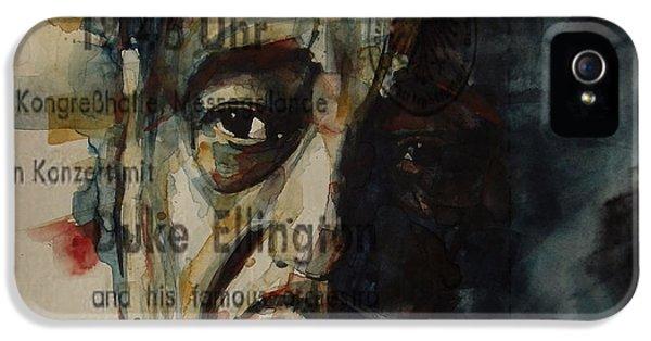 In A Sentimental Mood Duke Ellington IPhone 5 Case by Paul Lovering