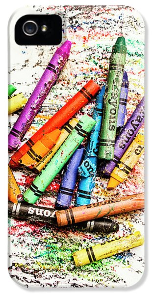 In Colours Of Broken Crayons IPhone 5 Case by Jorgo Photography - Wall Art Gallery