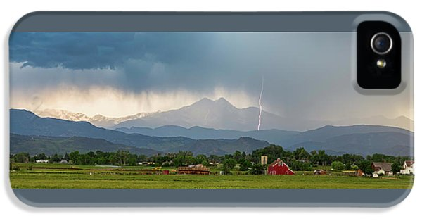 IPhone 5 Case featuring the photograph Incoming Storm Panorama View by James BO Insogna